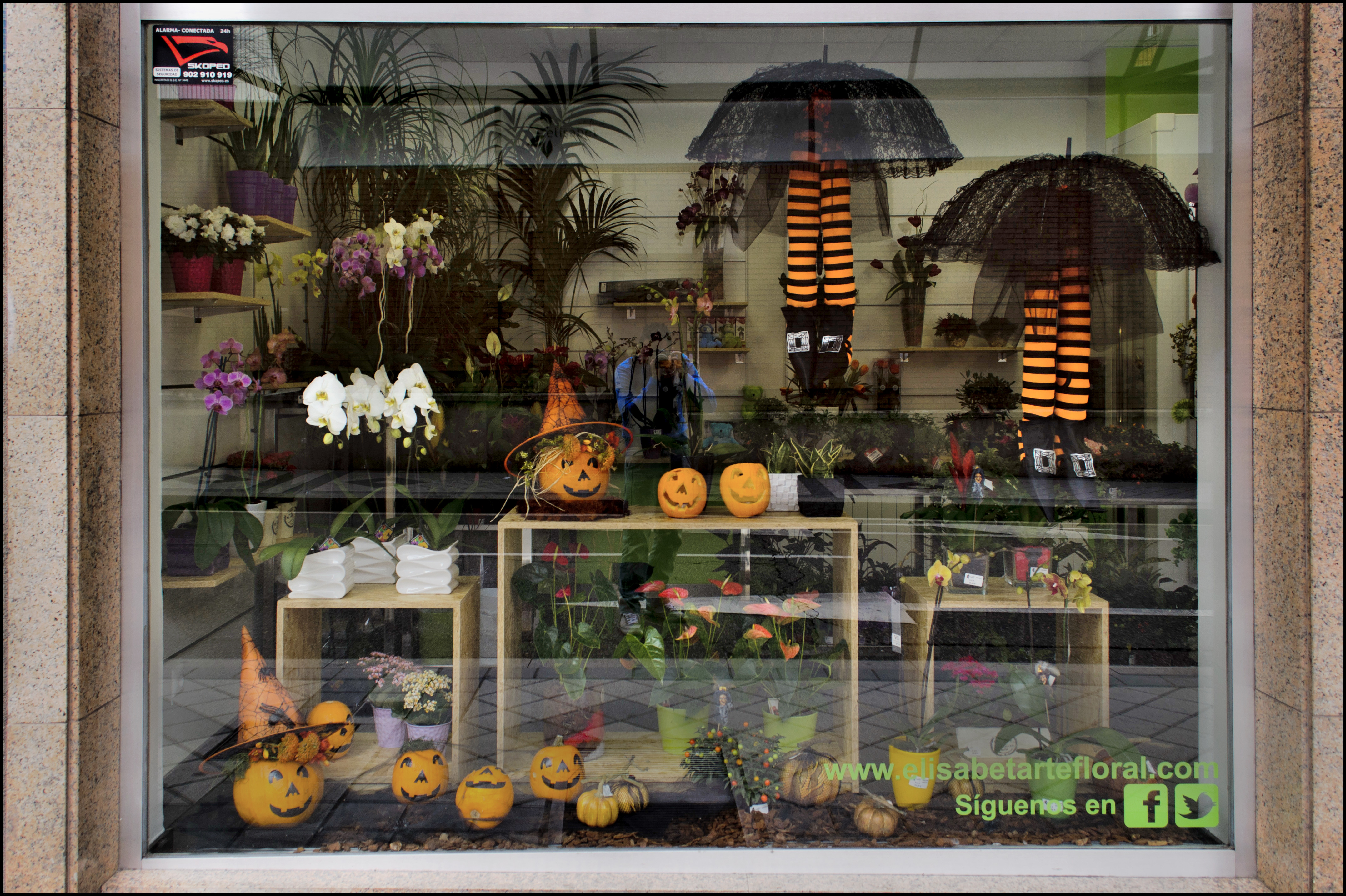 Halloween elisabet arte floral blog - Decoracion de escaparates ...