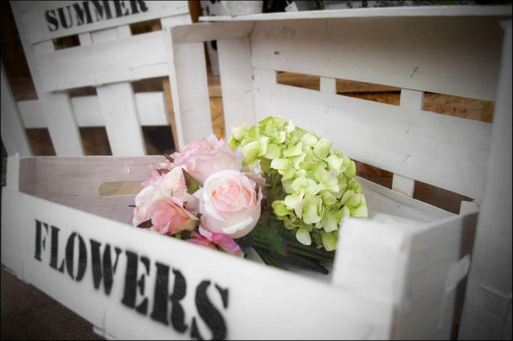 Caja de flores de verano