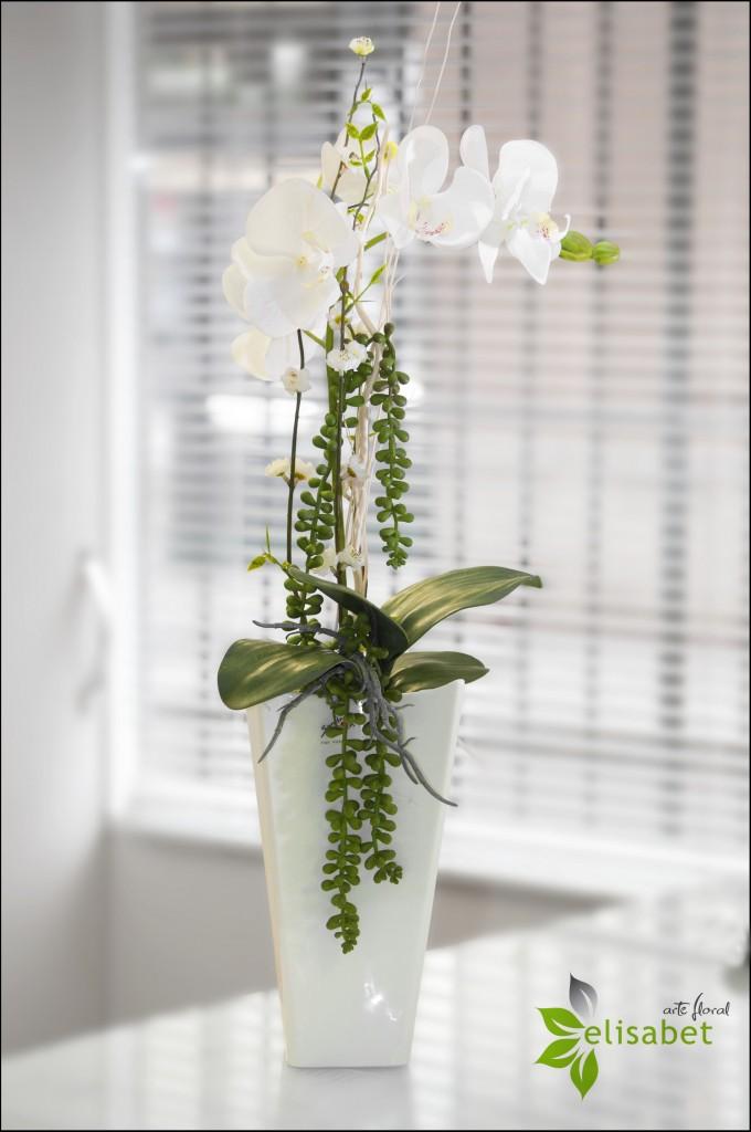 Orquidea flor artificial elisabet arte floral