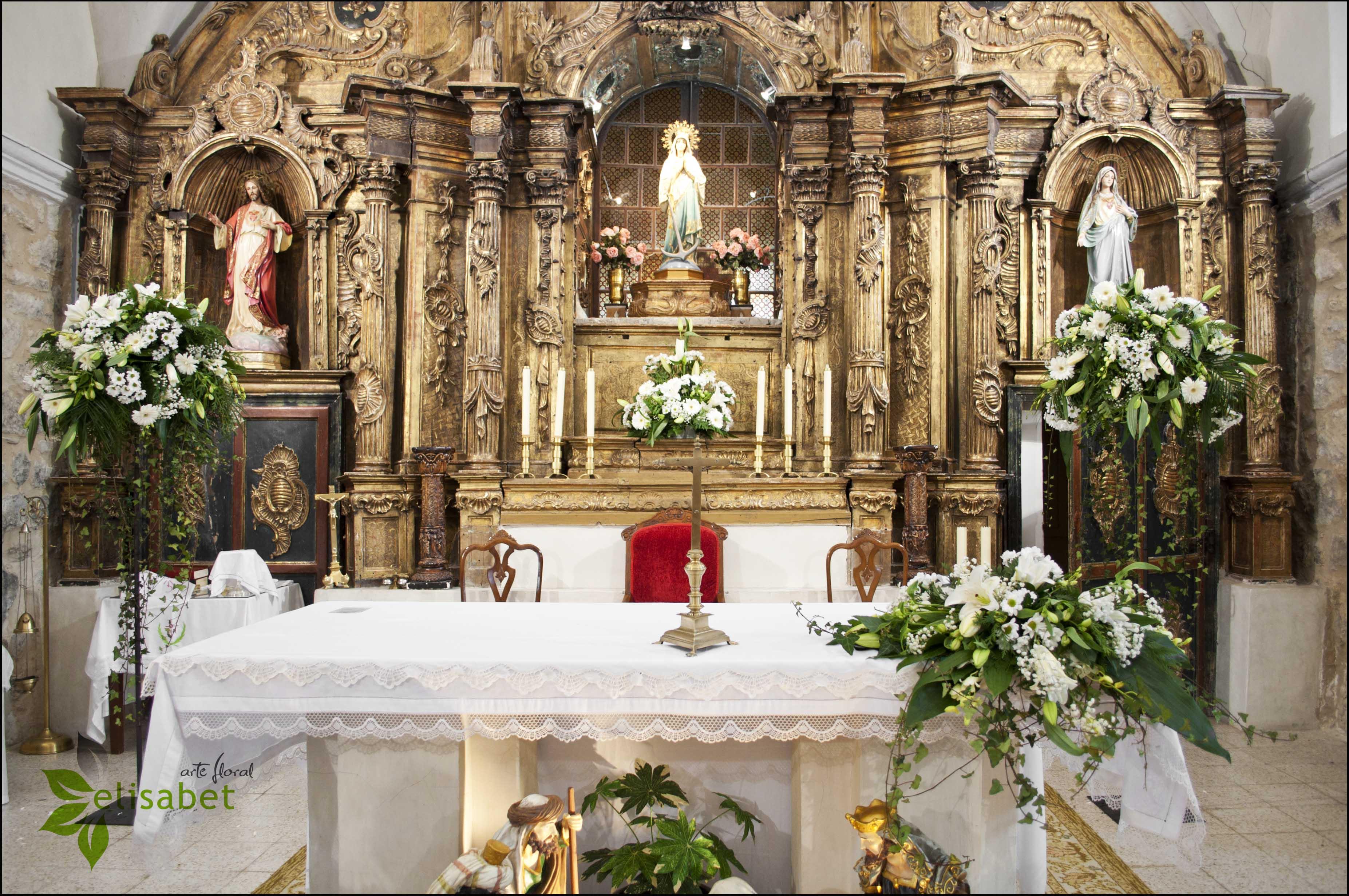 Decoracion Altar Iglesia ~ Decoraci?n Iglesia de Castrodeza altar boda  Elisabet Arte Floral