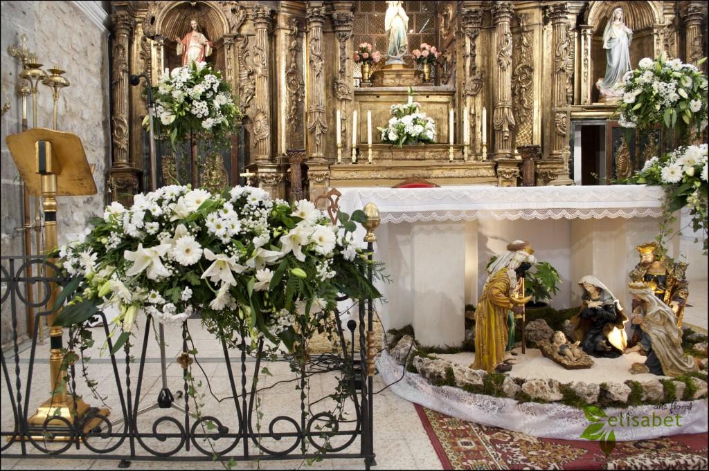 Barandillas en el altar