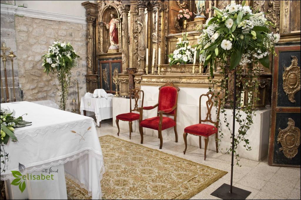 Decoración iglesia de Castrodeza Centro soporte