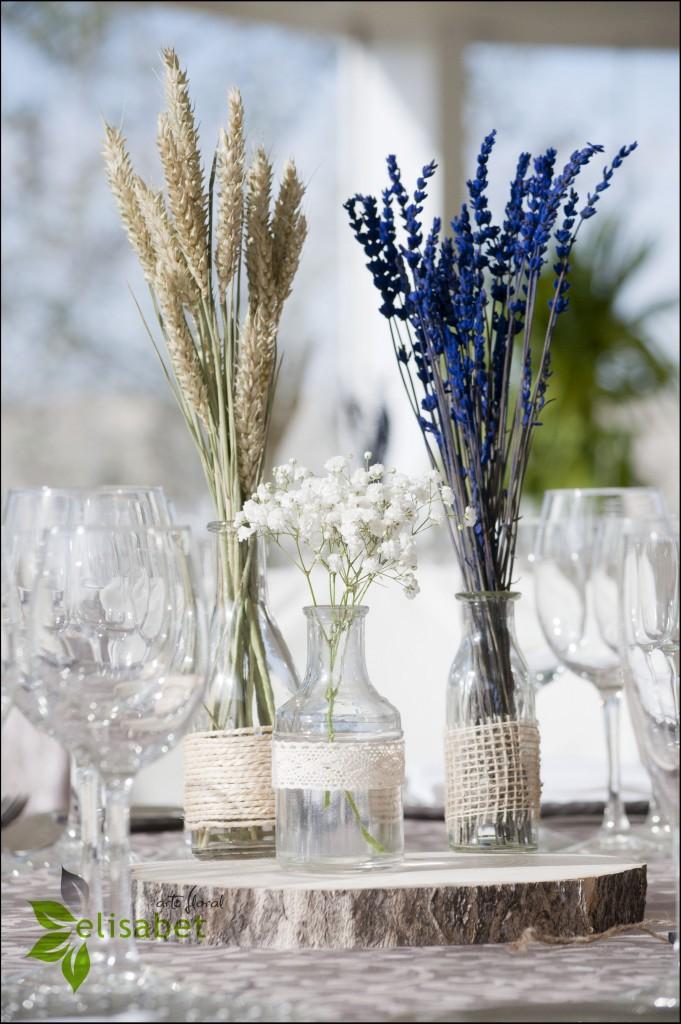 Trigo, lavanda y Paniculata